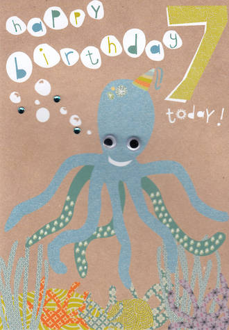 Age Card 7: Boy Hello Sunshine Octopus