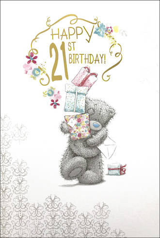 Age Card 21 Female Birthday Me To You Large