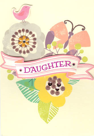 Daughter Birthday Card Hallmark Flower Heart