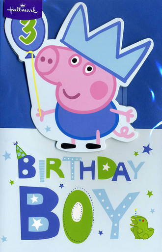 Age Card 3: Boy Peppa Pig