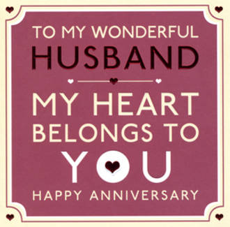 Anniversary Card Husband: Jubilee Heart Belongs