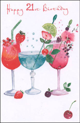 Age Card 21: Female Pizazz Cocktails