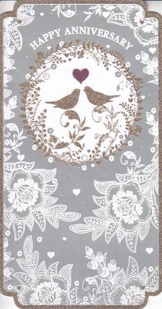 Anniversary Card Your: Pizazz Birds Heart