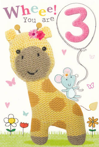 Age Card 3: Girl Marshmallow Girafe