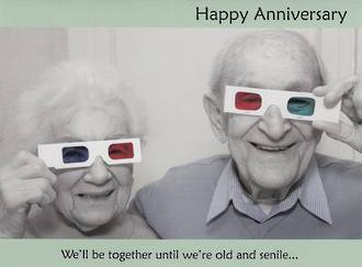 Anniversary Card Our: Persimmon Old And Senile