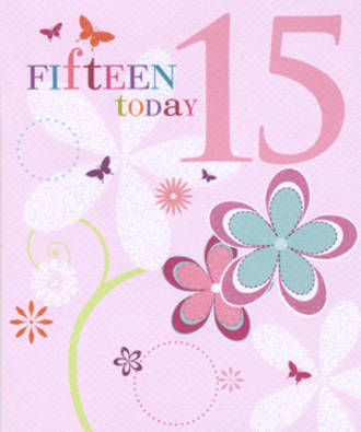 Age Card 15: Female Candy Burst 15 Today