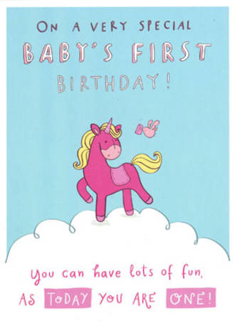 Age Card 1: Girl Pink Pony