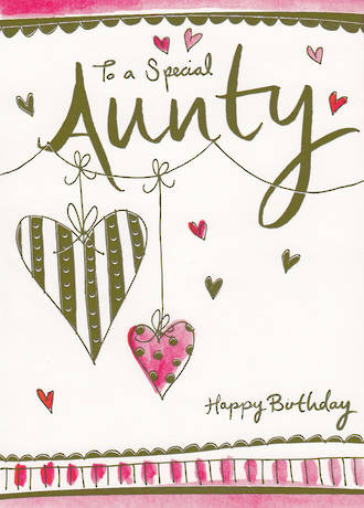 Aunt Birthday Card To A Special Aunty