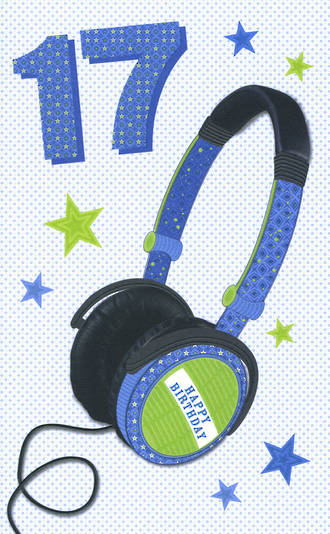 Age Card 17: Male Bingo Bango Headphones