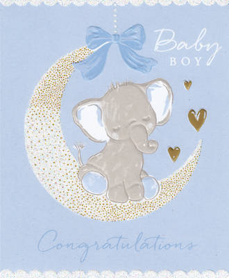 Baby Card Boy: Congratulations Elephant