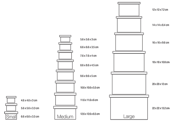 Boxes Nest Size