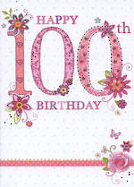 Age Card 100: Female Tallulah Rose Happy Birthday