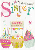 Sister Birthday Card: 100% Kids Special Sweet