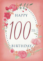 Age Card 100 Female Birthday Floral