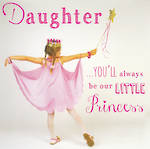 Daughter Birthday Card: Rapture Little Princess
