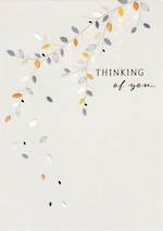Sympathy Card: Thinking Of You Leaves