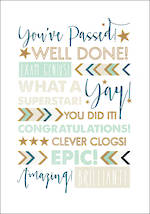 Congratulations Card: Passed Exam Genius