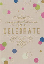 Congratulations Card: Artfile Celebrate
