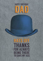 Dad Birthday Card: Art File Hats Off