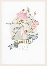 Daughter Birthday Card: Wild Berry Bunny