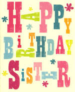 Sister Birthday Card: Ink Press