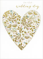 Wedding Card: Sara Miller Gold Heart