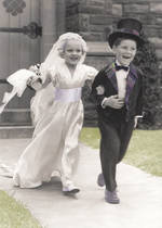 Wedding Card: Little Bride And Groom