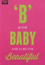 Baby Card Girl: Brainbox B Is For