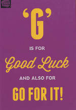Good Luck Card: Brainbox G Is For