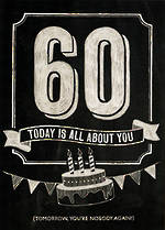 Age Card 60 General Chalk All About You
