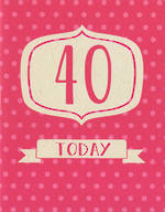 Age Card 40 Female Polka Dots Today
