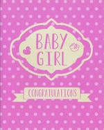 Baby Card Girl: Polka Dots
