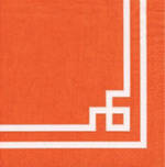 Napkins: Caspari - Lunch Rive Gauche Orange