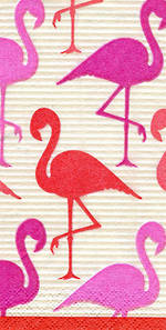 Hankies Caspari Flamingoes Facial Tissues