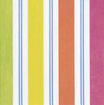Napkins: Caspari - Cocktail Awning Strip Bright