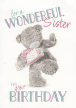 Sister Birthday Card: Me To You Photofinish Wonderful