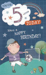 Age Card 5: Boy Wishing Well Birthday
