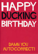 Dean Morris Shout: Happy Ducking Birthday