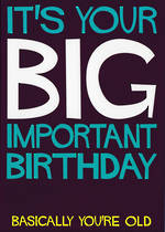 Dean Morris Shout: Big Important Birthday