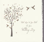 Wedding Card: Walk Through The Clouds To Both