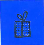 Mini Card: Gift On Blue