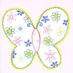 Mini Card: Pink Butterfly