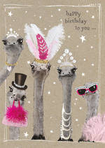 Fancy Pants: Birthday Ostriches