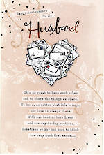 Anniversary Card Husband: Letter Heart