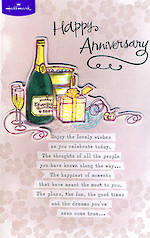 Anniversary Card Your: Champagne Gifts