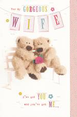 Anniversary Card Wife: Gorgeous Bears