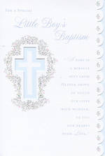 Baby Baptism Card: Little Boy