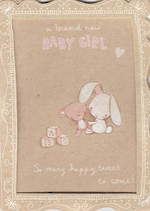 Baby Card Girl: Frame Bunny
