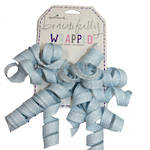 Bow: Curl Cascade Fabric Baby Blue