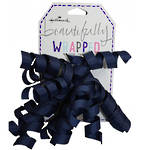 Bow: Curl Cascade Fabric Dark Blue